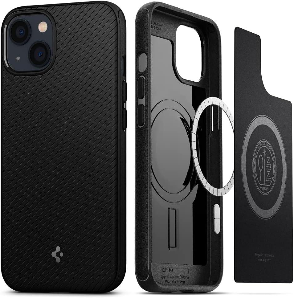 Spigen Mag Armor Compatible with MagSafe Designed for iPhone 13 Case (2021) - Matte Black