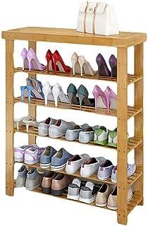ZXJshyp Multi-Layer Wooden Plant Flower Stand Shoe Rack Shoe Organiser Shelf, Entryway Storage Cabinet Change The Shoes St...