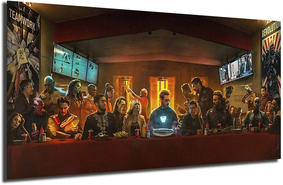 Avengers 品質検査済 Infinity War Superheroes Last セール 特集 Supper Canvas Oi Painting