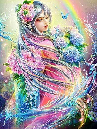 Abkaeh Pintura de Diamante 5D Bordado de Diamantes Completo Kit de Imagen Artesanal de Mosaico Decoracin del hogar Decoraciones de Ao Nuevo-A_Square_Drill_40x50