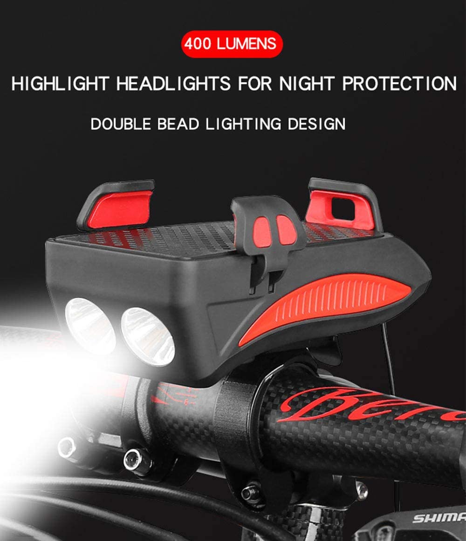 kompatibel mit Berg Lilon LED Fahrradlicht Wasserdichtes Fahrradlicht leichtes Fahrradhorn mit 3 Lichtmodi USB wiederaufladbar und einfach zu installierendes Fahrradlicht Stra/ße