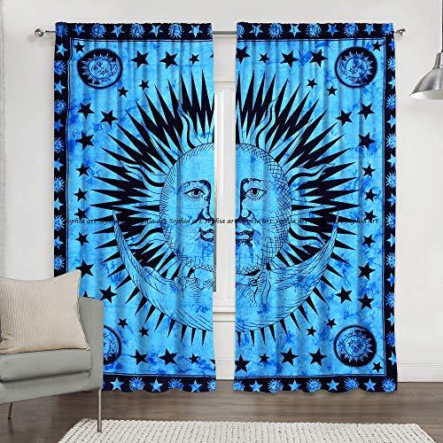 Fenster Schlafsäle Vorhänge Vorhänge Vorhang Volances, baumwolle, blau, 84 x 80 Inch