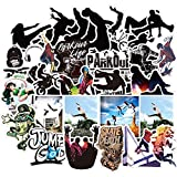 BLOUR Cool Extreme Sports Parkour Sticker For On Skateboard Laptop Suitcase Waterproof Stickers 50 Pcs Pack