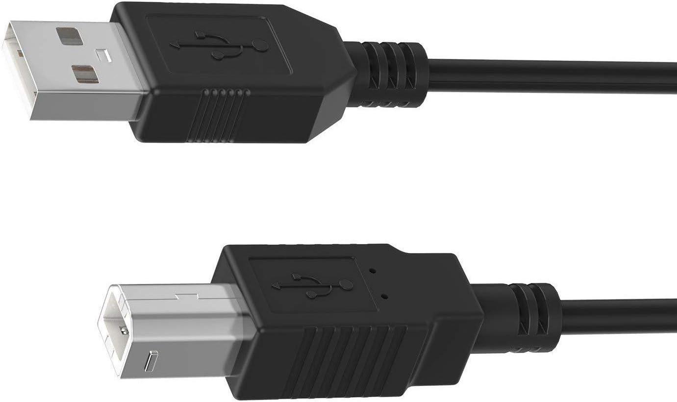 Digipartspower 6ft USB Cable Data PC Cord for Plustek OpticFilm 7200 7200i 8100 Photo Slide & Film Scanner