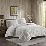 Woolrich Teton Embroidered Plush Coverlet Set Ivory King/Cal King, WR13-2058