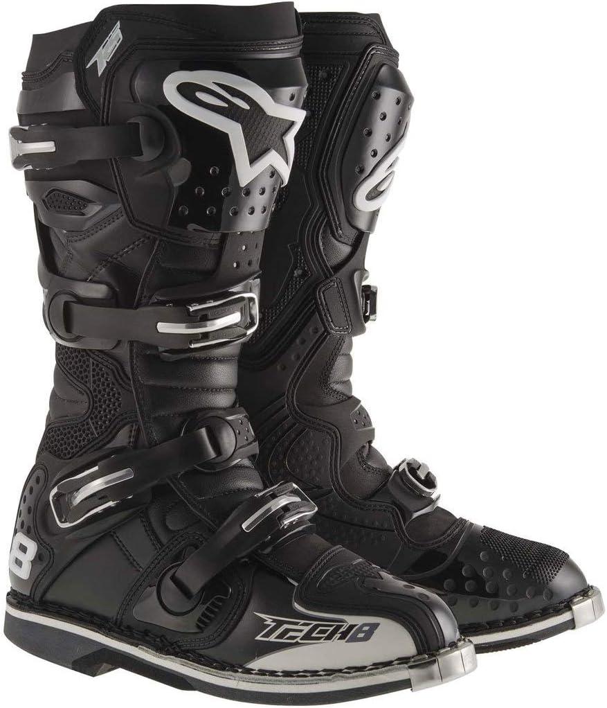 10 White Alpinestars Mens Tech 8 RS Motocross Boot