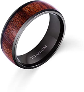 mens meteorite ring wedding band