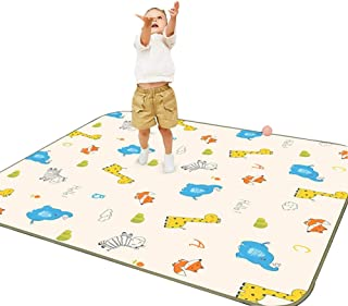 HLMIN Infant Crawling Mat Baby Crawling Mat Child Toddler Double Sided Game Mat Living Room Bedroom Non-toxic Non-slip Eas...