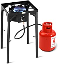 Goplus Outdoor Camp Stove High Pressure Propane Gas Cooker Portable Cast Iron Patio..