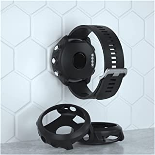 Smart Protector Case Siliconen Huid Beschermend Case Cover Voor Garmin Forerunner 645 Music Sports Watch (Color : Black, S...