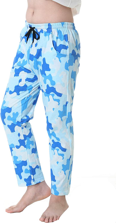 UQ BigBoys/Girls100% Cotton Camouflage Pajama Lounge Sleep Pant PJ Bottoms