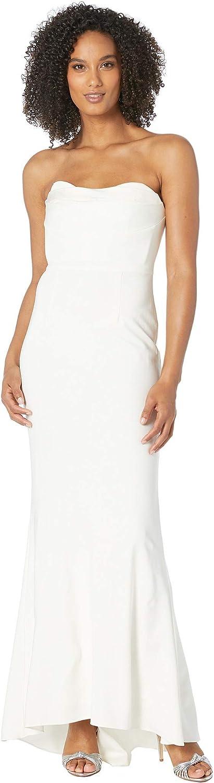 Adrianna Papell Women's Knit Sweetheart Neckline Strapless Evening Gown