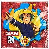 Amscan 9902177 - Servietten Feuerwehrmann Sam, 20 Stück,