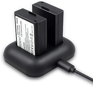 ENEGON Batería de Repuesto (Paquete de 2) y Cargador rápid