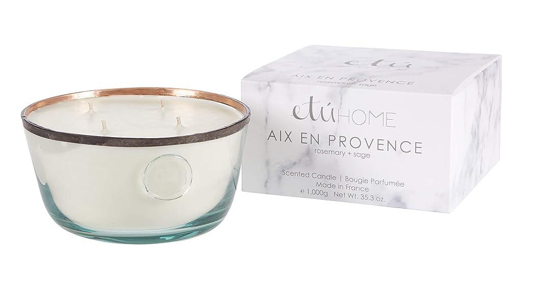 デコレーションくびれた端Large Candle、Aix en Provence、ローズマリー+セージ