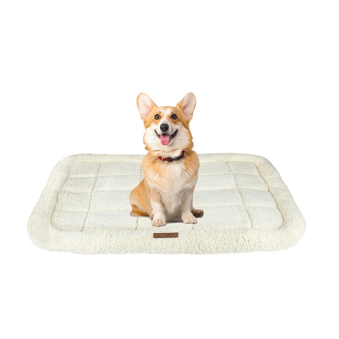 同じアリーナ弱いAIFY 犬ベッド ペットベッド 中型犬 犬 猫 クッション マット ベッド ボア生地 ペット用 犬用 おしゃれ 洗える ペットソファー かわいい ふかふか ふわふわ 通年 M