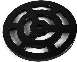 quadratisch Dachrinne aus massivem Metall stark stabil 345 mm Abflussrost wie Gusseisen 34,5 cm