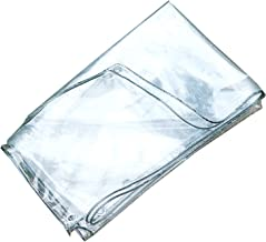 Schaduw en regendicht pooltafelhoes Transparant zeildoek, Waterdicht PVC Plastic 400GSM Heavy Duty Tarp Voor Bloem Plant S...