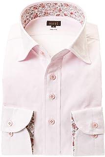 ドレスシャツ ワイシャツ カッターシャツ シャツ STYLE WORKS(スタイルワークス 長袖 綿:100% ワイドカラー ワイドカラー メンズ 柄シャツ 派手シャツ|RWD122-111 [111-S]