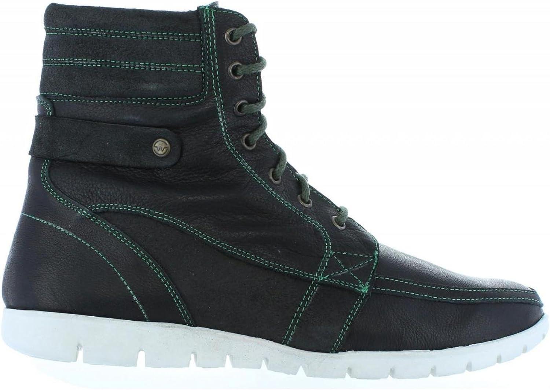 SLOWWALK Men Boots 10024PF BUFALO Serraje Black