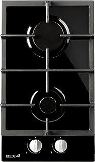 Plaque de cuisson Gaz verre noir 2 feux - BELDEKO - Gaz ville et bouteille