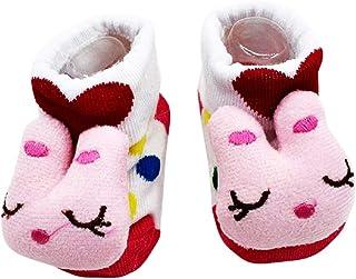 KIRALOVE, Calcetines antideslizantes para niños - calcetines para recién nacidos - 0/12 meses - estampados - conejo - lunares blancos - hombre - mujer - unisex - idea de regalo para niños pequeños