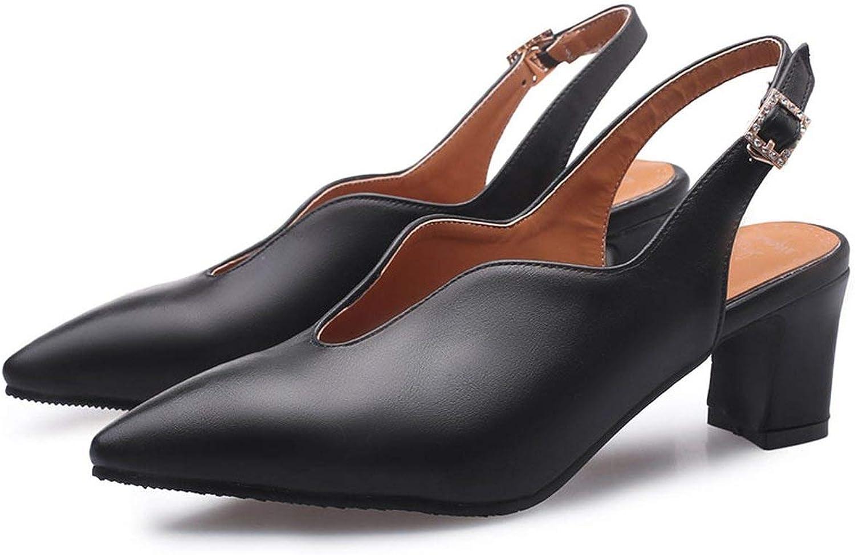 818098b372e Women's Mary Jane Chunky Heel Lady shoes Woman Pointed Toe Platform ...