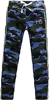 [ハイドロゲン[ HYDROGEN メンズ ロング 迷彩 運動ズボン スポーツ パンツ カモフラージュ ライン イタリア国旗 YC511