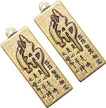IMIKEYA 2pcs Brass Tibetan Buddhist Keychain Vintage Feng Shui Figurine Chinese Good Luck Ornament 2021 Chinese Zodiac Ox ...