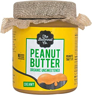 The Butternut Co. Peanut Butter Organic Unsweetened, 200 gm (No Added Sugar, Vegan, High Protein, Keto)