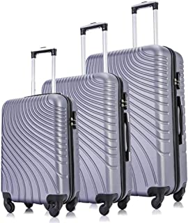 Luggage Sets, Semper 3 Piece Luggage Set Suitcases, Lightweight Hardside 4-Wheel Spinner Luggage