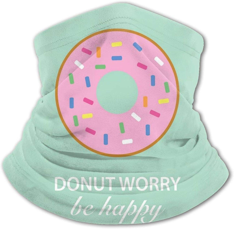 Happy Donut Kids Face Cover Shield Scarf Summer Cooling Neck Gaiters Washable Balaclava Bandanas Reusable Ice Silk Scarf Sun Protection Youth Ice Silk Bandana