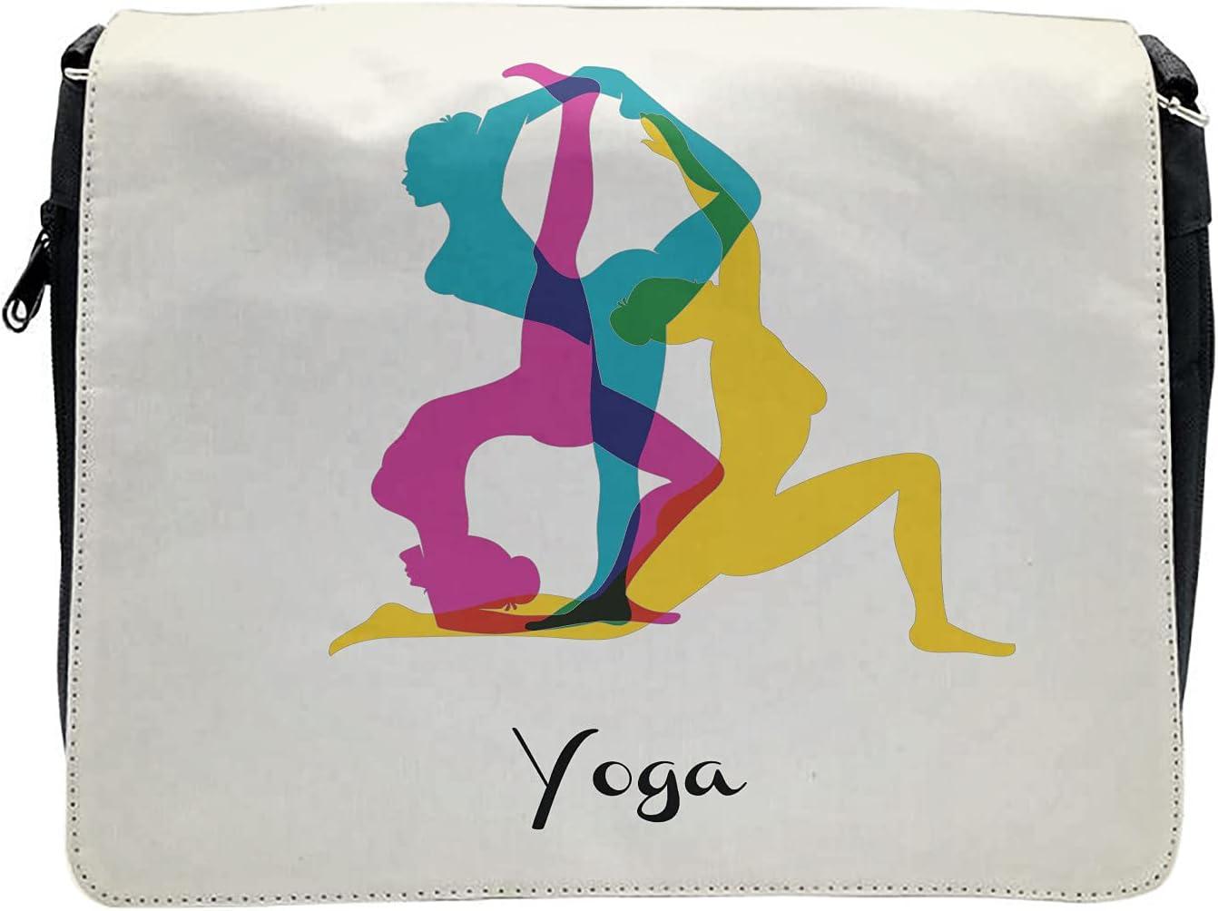 Ambesonne Yoga Cross Body Messenger Bag, Pink Pilates Human Health, Unisex