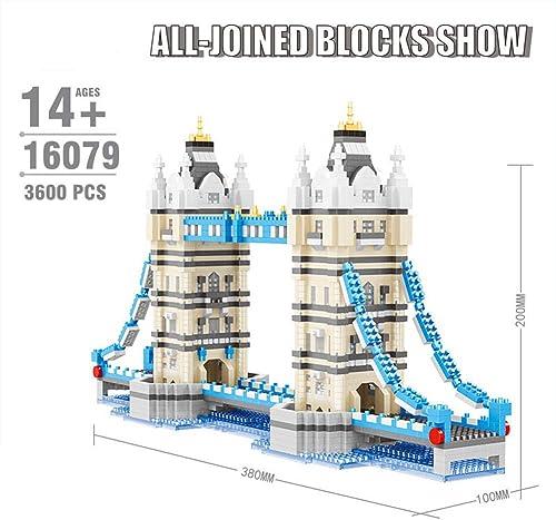 excelentes precios AIYA Mundialmente Fañosa Arquitectura London Bridge Building 3D Modelo Modelo Modelo Diamante Mini DIY Micro Building Naño Bloques Ladrillos Juguete para Niños y niñas Regaño de cumpleaños  venta con alto descuento