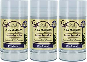 A La Maison Lavender Aloe Deodorant 2.4 fl oz Pack of 3