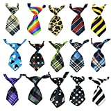15Pcs/Pack Baby Boys Pet Necktie for Cat Dog Tie Collar Assorted Cute Style Adjustable (Style 1021)