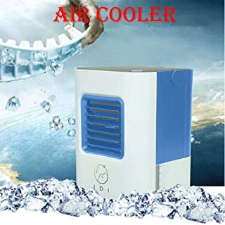 TIZJ Inicio Mini acondicionador de Aire portátil USB refrigerador de Aire Recargables Dispositivos portátiles Enfriar el Aire de refrigeración del Ventilador de Escritorio 514# 2