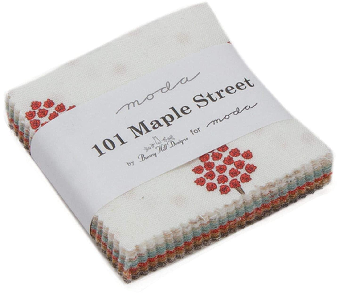 101 Maple Street Mini Charm Pack by Bunny Hill Designs; 42-2.5 Inch Precut Fabric Quilt Squares