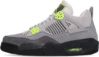[ナイキ] エアジョーダン 4 レトロ SE レディース キッズ バスケットボール シューズ Air Jordan 4 Retro SE GS Neon 95 Grey Volt CT5343-007 [並行輸入品]