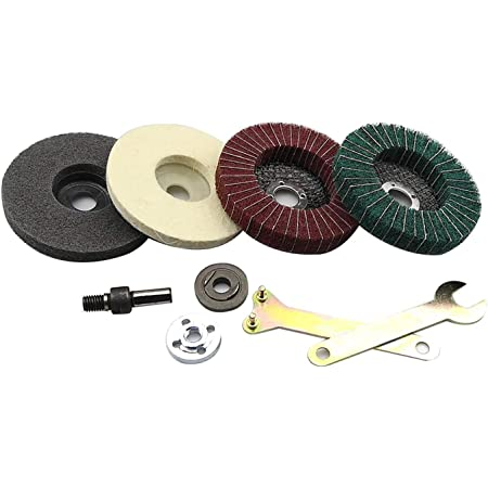 5x Stainless Steel Polishing Kit For Angle Grinder Flap Disc Buffing Accessories