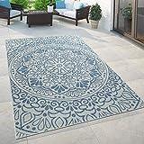 Paco Home In- & Outdoor-Teppich, Für Balkon Und Terrasse Mit Orient-Muster, In Blau, Grösse:120x170 cm