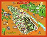 Jerusalem Map Poster with Easter Story Events of...