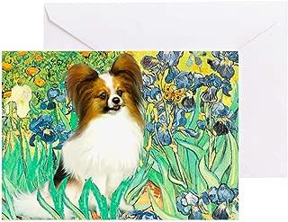 CafePress Irises/Papillon Greeting Card, Note Card, Birthday Card, Blank Inside Matte