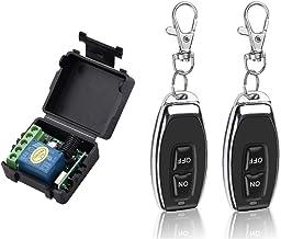 Lepeuxi Smart Home 433 MHz DC 12 V 1CH draadloze afstandsbediening relais ontvanger zender module schakelaar universele af...
