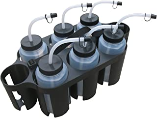 A&R Sports Plastic Carrier with 6 Curved Tip Water Bottles (Combo)