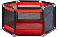 WJSW Adorable Safety Play Center Yard Infants Baby Safe Play Pen Portable Playard/Indoor and Outdoor Kids Activity Center for Playroom & Nursery Play Gym Non-Slip No Odors