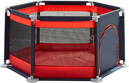 WJSW Adorable Safety Play Center Yard Infants Baby Safe Play Pen Portable Playard Indoor and Outdoor Kids Activity Center for Playroom  amp  Nursery Play Gym Non-Slip Odors