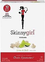 Orville Redenbacher's Skinnygirl Lime & Salt Popcorn, 1.5 Ounce Mini Bags, 10-Count, Pack of 6