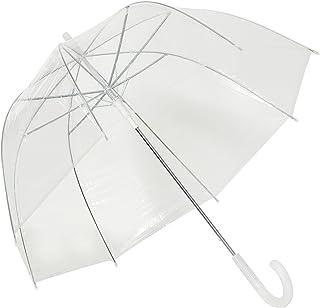 TOSOAR Transparent Stick Umbrella Clear Bubble Dome Shape Umbrella Color Pattern