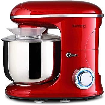 Monzana Robot de cocina multifunción Rojo batidora amasadora ...